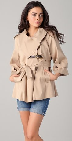 gorgeous, interesting trench - love it!