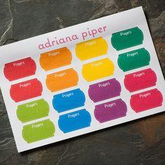 Scallop Prayer Stickers 16 ct for Erin Condren Life Planner, Plum Paper Planner, Filofax, Kikki K, Calendar or Scrapbook by adrianapiper on Etsy
