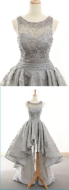 5d390c415b5e Gray High-Low Homecoming Dress,Short Prom | Cocopromdress  #homecomingdresses #homecoming Sequin