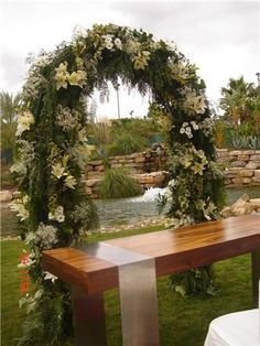 Arch for Blessing in lovely location.