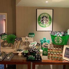 Starbucks Birthday Party, 12th Birthday Party Ideas, Birthday Coffee, 13th Birthday Parties, 14th Birthday, Girl Birthday, Coffee Themed Party, Starbucks Crafts, Printable Party