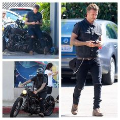 David Beckham Bikes wearing Saint Laurent Ripped Knees Jeans | UpscaleHype