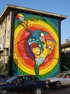Latino America, work by La Mano. Graffiti, Street Mural, Best Street Art, Installation Art, Art Installations, Art Mural, Latin America, Creative Home, Medium Art