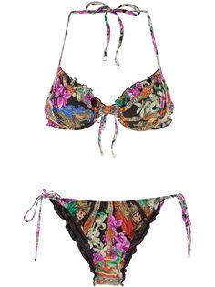 DOLCE and GABBANA Floral Print Bikini