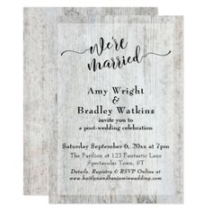 Rustic Weathered Wood Post Wedding Celebration Card - rustic gifts ideas customize personalize