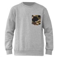 Carhartt Eaton pocket sweat crew à poche camouflage grey heather camo isle 69€ #carhartt #carharttwip #workinprogress #sweat #camo #camouflage #sweater #sweatcrew #crewneck #fleece #winter #pull #pullover #skate #skateboard #skateboarding #streetshop #skateshop @PLAY Skateshop