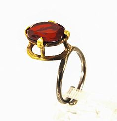 Red stone unique rings for women silver designer jewellery for valentines day gift ** For more information, visit image link.Note:It is affiliate link to Amazon.