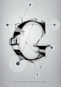 Awesome letter art. Design inspiration article