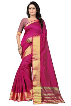 1598f246c9d19 Designer Pink Solid Kota Dhupian Saree at YOYO Fashion. Call or Whatsapp  for more info here  8000588688
