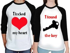 Franterd Matching Couple Shirts – Couple Shirts for Him and Her His & Her Letter Printing Top T-Shirts (Men, XL) Matching Couple Shirts, Couple Tees, Matching Couples, Couple Tshirts, Love T Shirt, Cute Tops, Shirt Blouses, Printed Shirts, Lovers