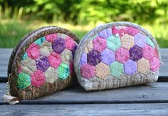 Hexagon Patchwork Purse Tutorial. How to Sew Photo Sewing Tutorial. / monedero hexagonal de parches