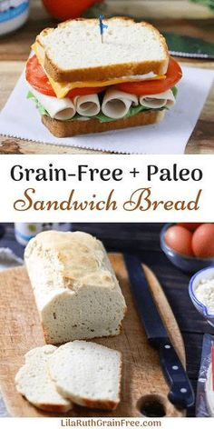 Paleo Sandwich Bread, Food And Drinks, Super Easy Paleo Sandwich Bread Recipe Paleo Sandwich Bread, Best Keto Bread, Low Carb Bread, Avocado Bread, Paleo Pizza, Vegan Keto, Zucchini Bread, Sandwiches, Pan Cetogénico