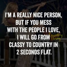 Maybe not country but straight for ur fucking jugular.
