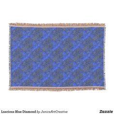 Luscious Blue Diamond Throw