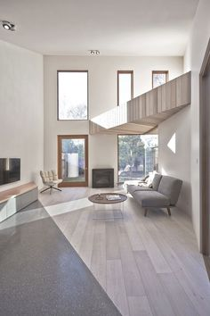 Another example of a wood 'clad' loft  Bow House by Edwards Moore (13)
