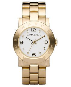 Marc by Marc Jacobs Watch, Women's Goldtone Stainless Steel Bracelet MBM3056 - Women's Watches - Jewelry & Watches - Macy's