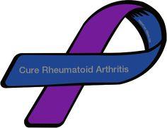 What You Need To Know About Rheumatoid Arthritis Rheumatoid Arthritis Quotes, Psoriatic Arthritis, Awareness Tattoo, Juvenile Arthritis, National Days, Custom Ribbon, Invisible Illness, Awareness Ribbons, Autoimmune Disease