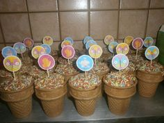 Planter Pots, Food And Drink, Sugar, Fun, Blog, Kids, Muffins, Cupcakes, Party Ideas