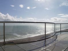 Sea View Glass balustrades, balconies and curved patio doors in a great variety and range of designs from Balcony System. Veranda Railing, Patio Railing, Steel Railing, Staircase Railings, Patio Doors, Railing Ideas, Bannister, Railing Design, Stairs