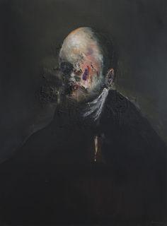 Antoine Correia (French, b. 1972, France) - Portrait II, 2014. Oil on Canvas.
