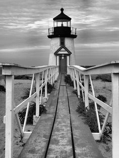 Lighthouse Photograph, Black and White Photography, Nautical Decor on Etsy, $16.00