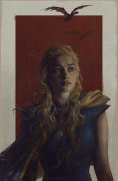 Daenerys Painting by Sam Spratt - Game of Thrones