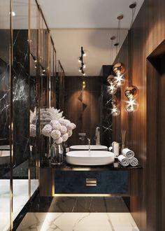 Bathroom Design Luxury, Modern Bathroom, Home Interior Design, Master Bathroom, Bath Design, Tile Design, Minimal Bathroom, Lobby Interior, Master Baths