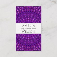Purple Floral Mandala Garden Business Card for $23.15 #MandalaCard #MandalaBusinessCards #BusinessCards #PrintTemplate #graphics #GraphicDesign #Zazzle #hair #MakeupArtist #design #mandala #BusinessCardTemplate #YogaInstructor #template #card #counselor #yoga #therapist #CardTemplates #YogaTeacher