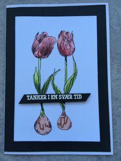 Kort med stempelsættet Fra hjertet af NHH Design. Kortet er lavet af Solveig Heldt.
