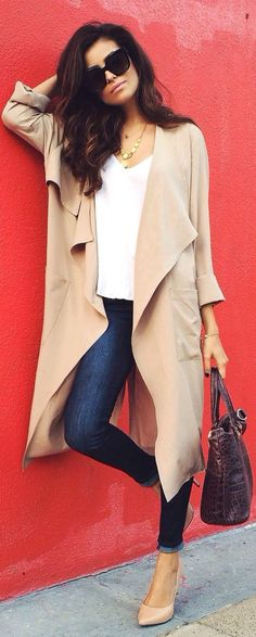 Drapey trench coat.