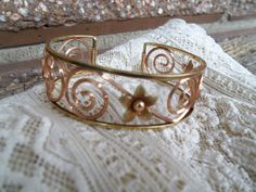Pretty Krementz Yellow and Rose Gold Overlay by bettyrayvintage, $30.00