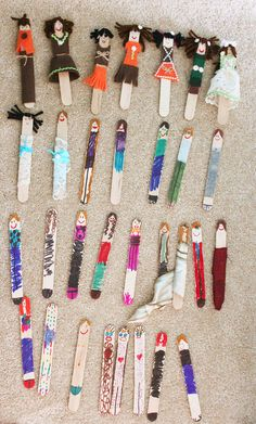 Work at a hospital with children? Worry Dolls from tongue depressors These could also be a fun and easy activity to do with kids. Popsicle sticks. Or plastic spoons could be used.