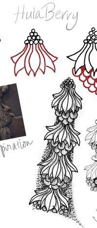 Hula Berry tangle pattern ~Julie's Zen Bliss