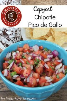 Copycat Chipotle Pico de Gallo recipe.  So simple and so delicious on tacos…