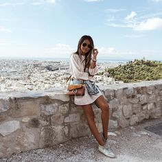 Julie Sariñana in Athens, Greece Vacation Outfits, Summer Outfits, Cute Outfits, Hippie Stil, Inspiration Mode, How To Pose, Photo Instagram, Style Instagram, European Fashion