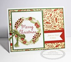 Christmas card using CTMH White Pines Cardmaking WOTG #CTMH #ChristmasCards #WhitePines