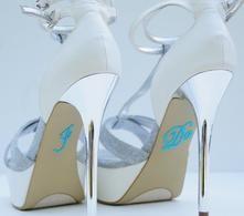 Unik Occasions - Crystal Rhinestone I Do Wedding Shoe Stickers - Blue Something Blue