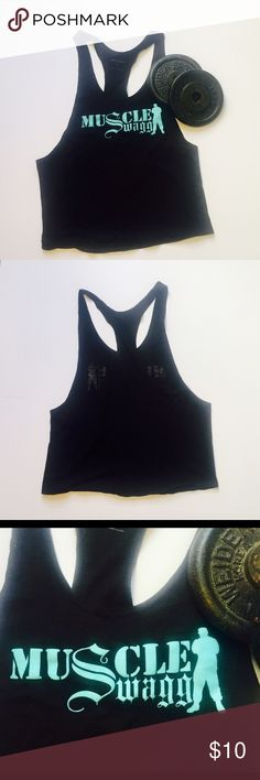 """Men's workout tank Great cotton blend, super soft!  Is a men""""s  gym top but can be worn by a girl if you roll the straps into your sports bra Shirts Tank Tops"""