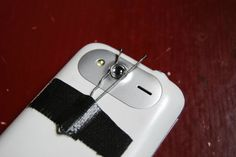 How to build cheap macro lens for your phone. All you need is a laser pointer, bobby pin, and some tape.