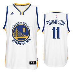 17b0846e0 Win  Klay Thompson White Swingman  11 Golden State Warriors NBA Home Jersey  White Jersey