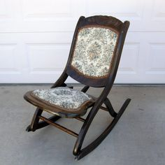 Vintage Fold Up Wooden Chairs