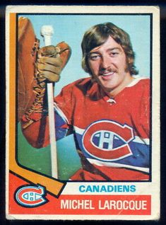 Michel Larocque was a success in junior and the AHL but the sixth overall pick in 1972 spent his NHL career in the shadow of Ken Dryden with the Canadiens. Hockey Goalie, Hockey Teams, Ice Hockey, Montreal Canadiens, Hockey Cards, Baseball Cards, Nhl, Canadian Hockey Players, Ken Dryden