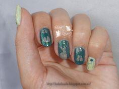 Reto puntos ~Huellas~ Kiko, 428 River Green Green nails Mother nature 14