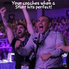 Smoed coaches eddy and orby all excited when a stunt hits.(looks like my coaches lol) Cheer Athletics Cheetahs, Cheer Funny, Cheerleading Photos, Cheer Quotes, Cheer Coaches, Cheer Hair, All Star Cheer, My Dream Team, Stunts