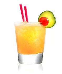 Anguri Sour - Metaxa Brandy, Fresh lemon Juice, simple syrup and cucumber.