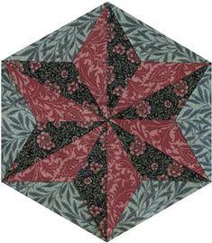 Morris Hexathon 6: South Kensington Star (Barbara Brackman's MATERIAL CULTURE)