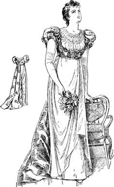 "Late 19th century young women's clothing in imitation of early 19th century high-waisted ""Empire""styles. Also influenced by the ""Artistic dress"" movement, and a mild example of ""dress reform""."