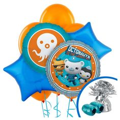 Octonauts Party Balloon Bouquet, Blue