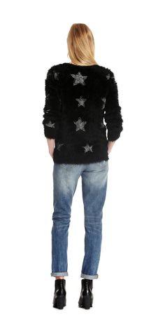 Star Textured Sweater