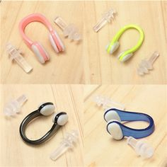Sale 24% (2.29$) - Waterproof Silicone Nose Clip   Swim Ear Plugs Swimming Equipment